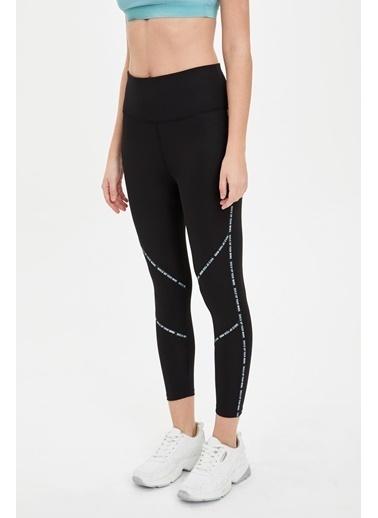 Defacto –Fit Slim Fit Şerit Detaylı Tayt Siyah